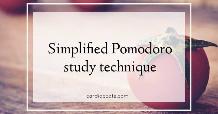 Simplified Pomodoro study technique