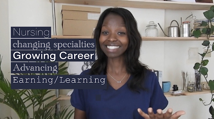 YouTube; Speaking to a Nursing Career Advisor on selecting specialties and achieving professional success!