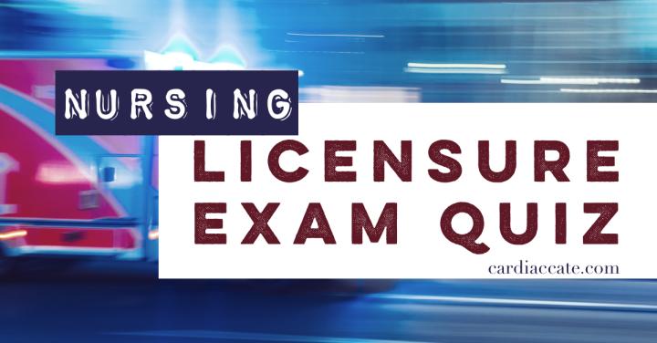 Nursing Licensure Exams: Community HealthQuiz